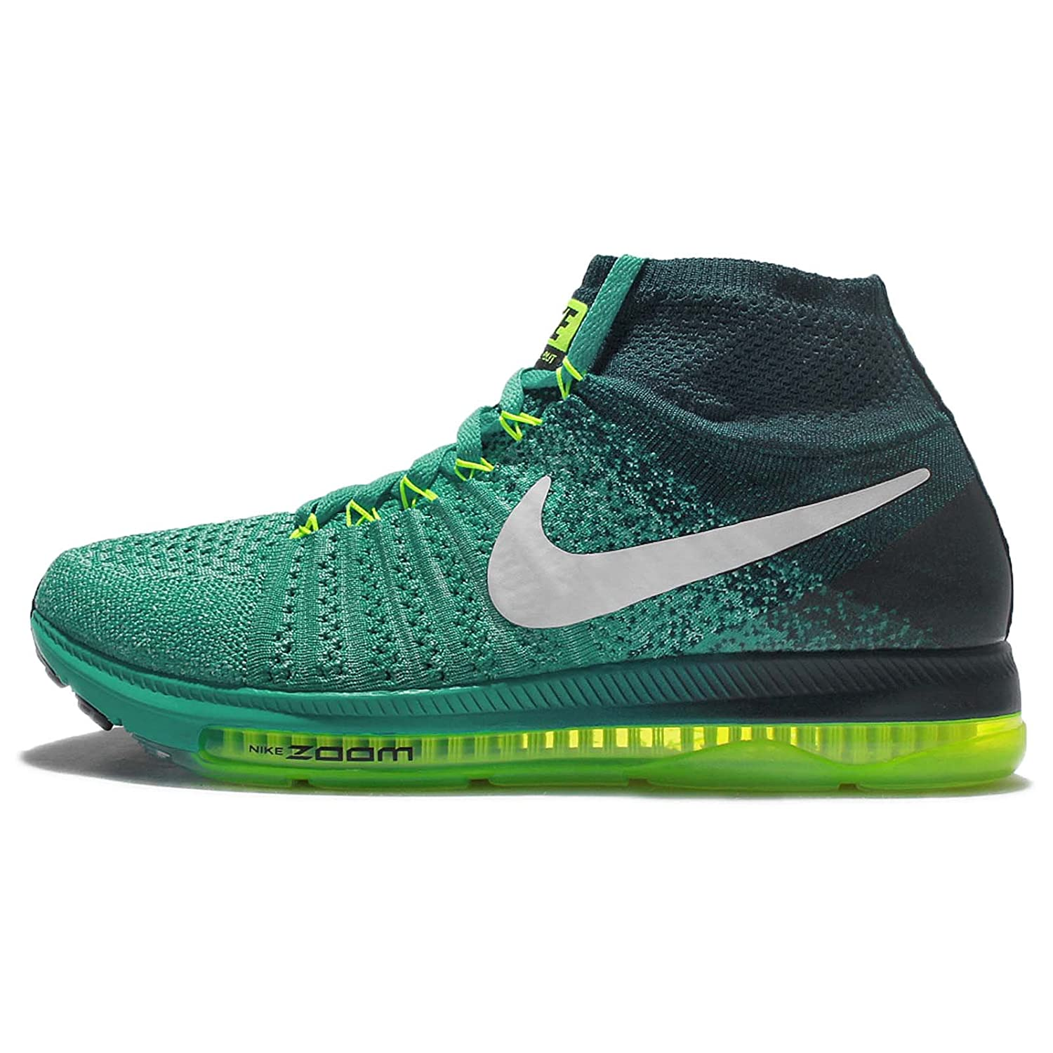 Nike Women's Zoom All Out Flyknit Running Shoes B0059597MI 6.5 B(M) US|Clear Jade/White-midnight Turq-volt