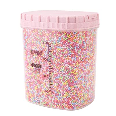 DECORA 80000 Pieces Styrofoam Balls Slime Supplies Colorful Foam Beads 2-3mm for Kids Art Homemade Slime, Wedding and Party Decorations: Arts, Crafts & Sewing