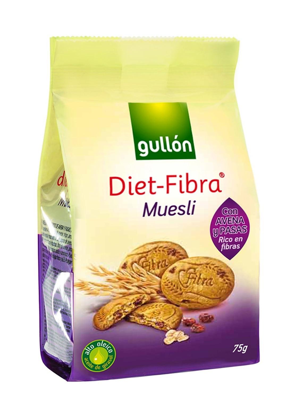 Amazon.com: 2 Pack Gullon Fiber Diet Muesli Snack 2.65 Oz ...