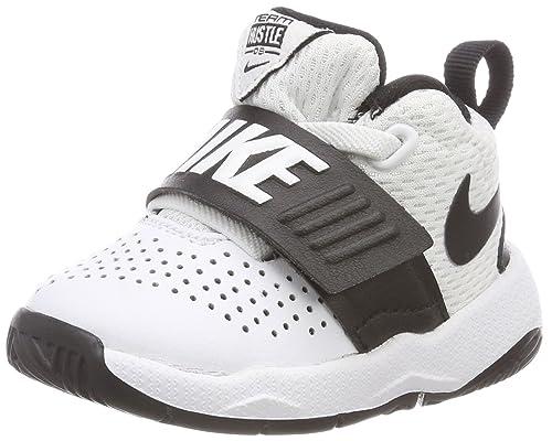 brand new e8920 9e84b Nike Team Hustle D 8 (TD), Zapatillas de Gimnasia Unisex Niños, Blanco  (WhiteBlack 100), 27 EU Amazon.es Zapatos y complementos