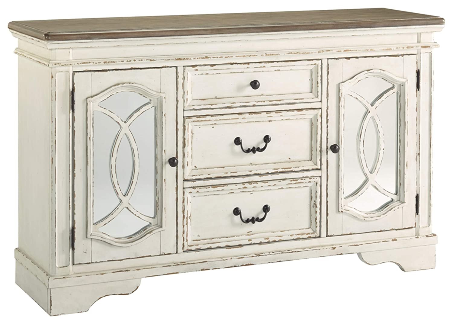 Signature Design By Ashley – Realyn Dining Room Server – Casual Style – Chipped White