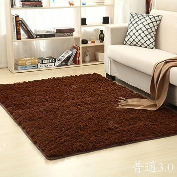 Amazon com: Solid color plush mat Living room Bedroom mats