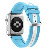 Cinturino for Apple Watch 38mm 42mm,YaYuu Morbido Silicone Braccialetto Sportiva di Ricambio per 38mm iWatch Serie 3/ Serie 2/ Serie 1