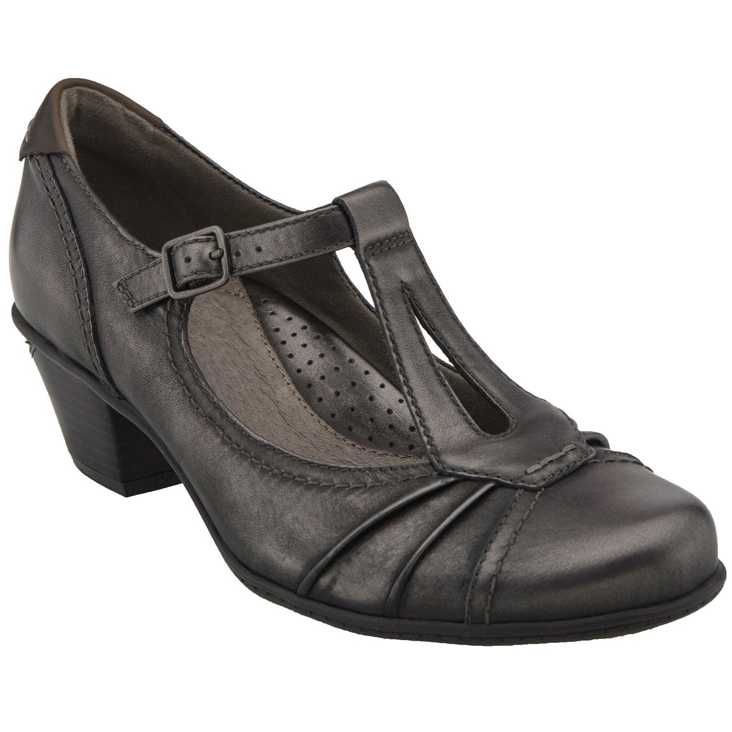 Earth Women's Wanderlust Pewter Metallic Leather 9.5 D US by Earth (Image #1)