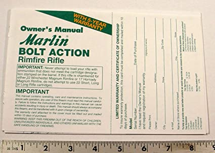 amazon com marlin owners manual for rimfire rifles sports rh amazon com marlin 444 owners manual marlin owners manual model 60 22 rifle