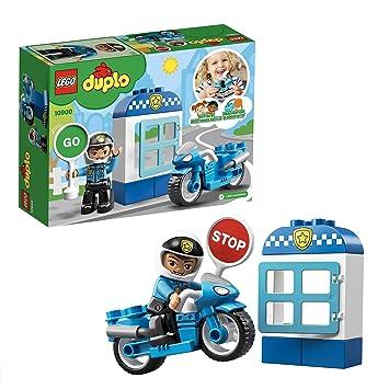 LEGO DUPLO Town - Moto de Policía, vehículo de juguete de construcción y aventuras (10900): Amazon.es: Juguetes y juegos