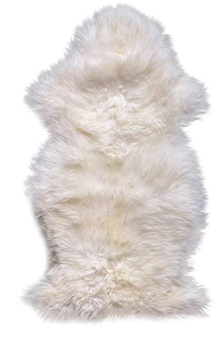 6cf1a46b5d Amazon.com  Super Area Rugs Single Silky New Zealand Fur Sheepskin ...
