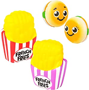 4 Pack Squishy Toys for Kids Fast Food Squishies Slow Rising Pack 4.25