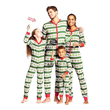 5311fe4464bd5 Hzjundasi Assorti Famille Ensemble Pyjama - Noël Imprimé Combinaison  Parent-Enfant Le Maillot de Corps