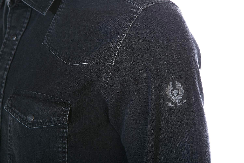 539211940f3 Belstaff Somerford Shirt in Black 2XL  Amazon.co.uk  Clothing