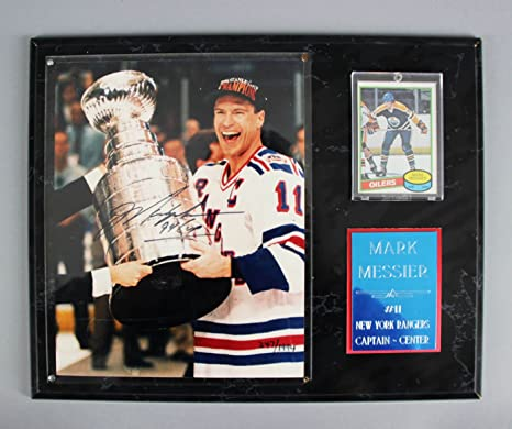 6d1d3f21fe2 Mark Messier Signed Photo Display Rangers w RC Card - COA JSA at ...