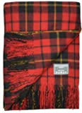 Classic Wool Blanket Throw Rug in Wallace Tartan