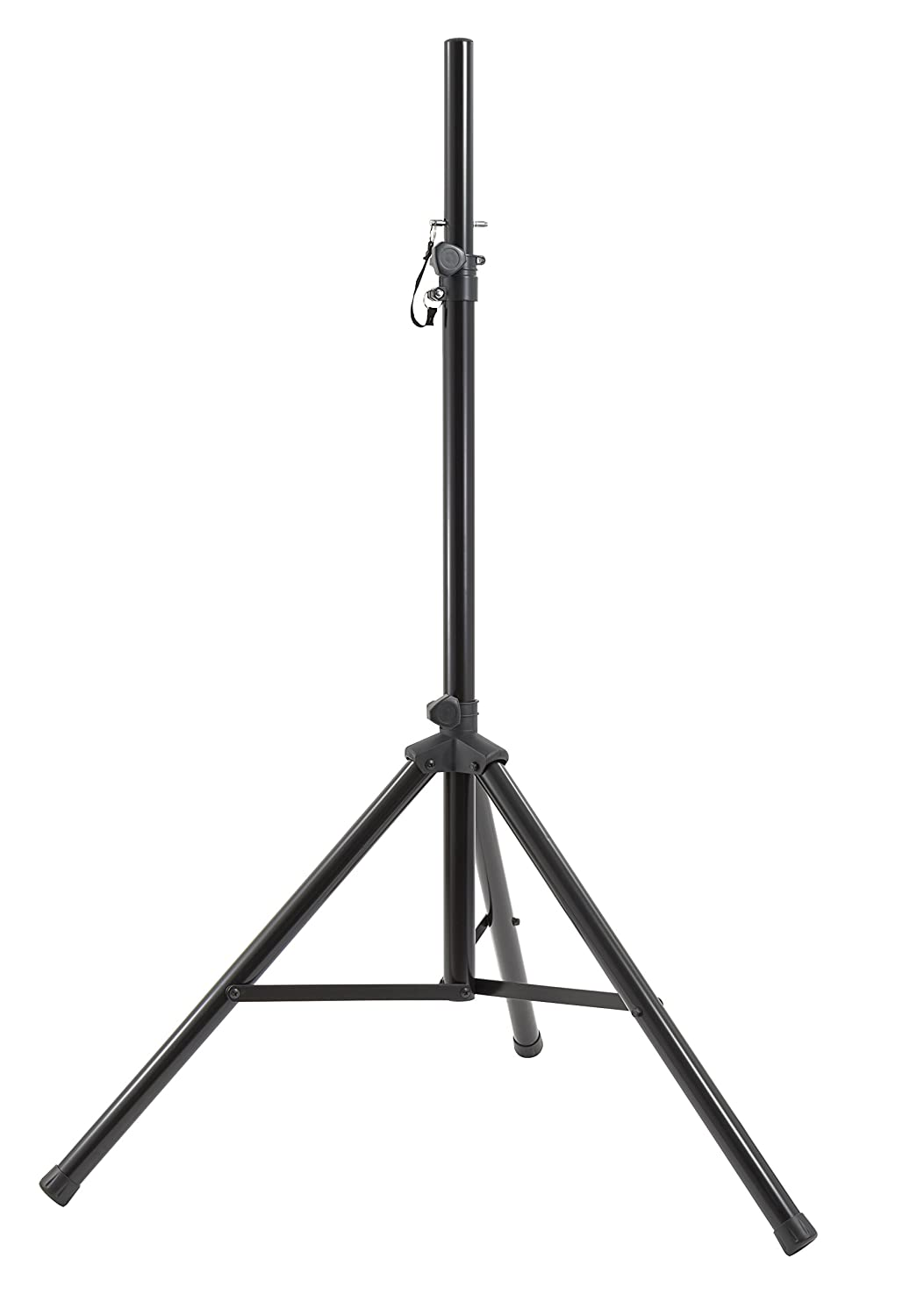 Gemini ST Series ST-PACK Professional Audio DJ Fold-Out Telescoping Tripod Black Anodized Steel Speaker Stands (Set of 2), Up To 80