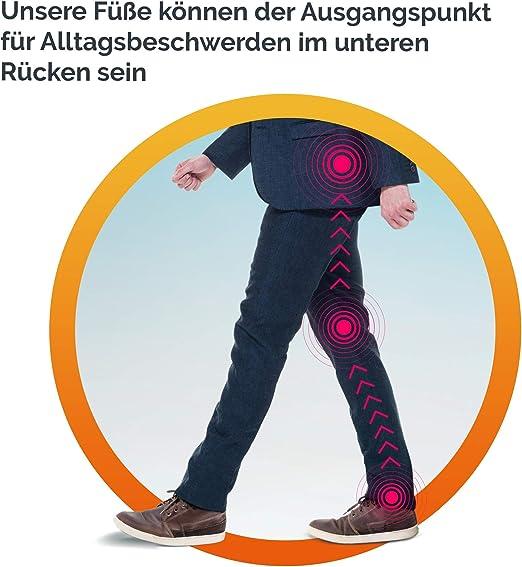 f/ür Damen und Herren Unterst/ützung f/ür Flachfu/ß Scholl In-Balance Einlegesohlen zur Schmerzlinderung Gr/ö/ße L
