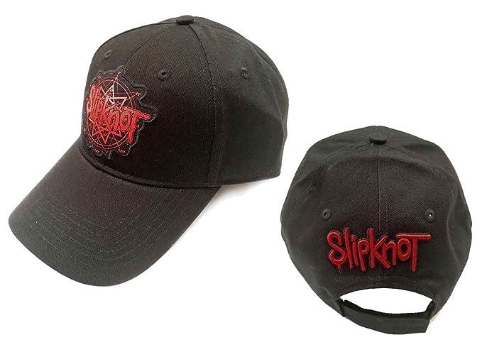 Amazon.com  Slipknot Baseball Cap Classic Band Logo Official Black ... 1561b08c3e9