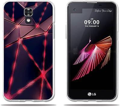 FUBAODA Funda para LG X Screen de Silicona de Triángulos Luminoso ...