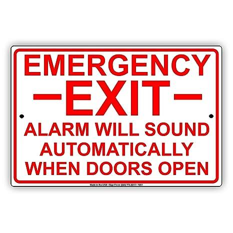 Amazon.com: Salida de emergencia alarma sonará ...