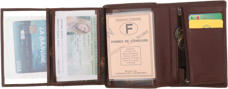 Noir Porte Monnaie et Cartes SECRETDRESSING Portefeuille en Cuir Homme Elephant D Or 10 cm X 14 cm