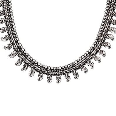 Buy ranvijay oxidised german silver necklace for women online at low ranvijay oxidised german silver necklace for women aloadofball Images