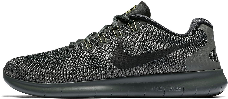 Nike Free RN 2017, Chaussures de Running Homme, Noir (Vert