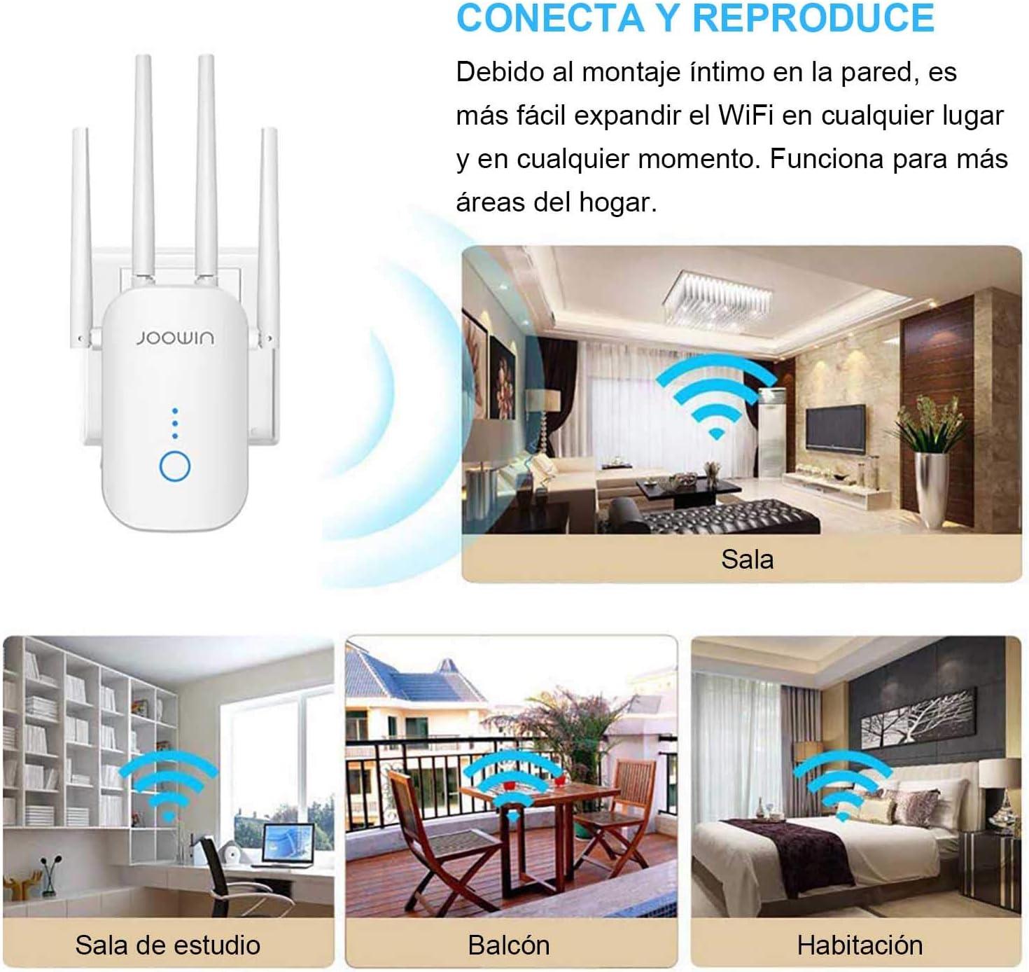 Repetidor WiFi Joowin 2.4GHz + 5GHz por 27,99€ ¡¡39% de descuento!!