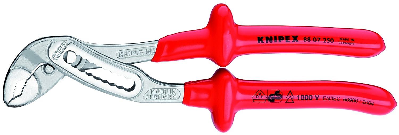 certifi/ées VDE 250 mm KNIPEX 88 07 250 Alligator/® Pince multiprise chrom/ée isol/ées par surmoulage