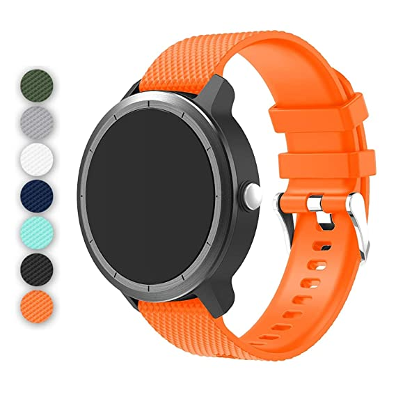 53c655cc4 BIGTANG Vivoactive 3 Watch Band, 20mm Quick Release Soft Silicone  Replacement Fitness Bands for Garmin