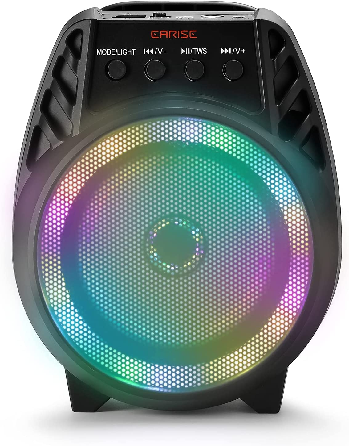 EARISE D51 Bluetooth Speaker, Portable Wireless Speaker with RGB Lights, Stereo Sound, TWS Dual Pairing Speaker for Home, Office, Outdoors and Travel