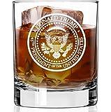 Patriot's Cave Trump Whiskey Glass | PRESIDENTIAL SEAL | Quality Duratuff Heat Treated Borosilicate 11oz Rock Glass…