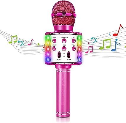 ghdonat.com Portable Handheld Karaoke Microphone with LED Lights ...