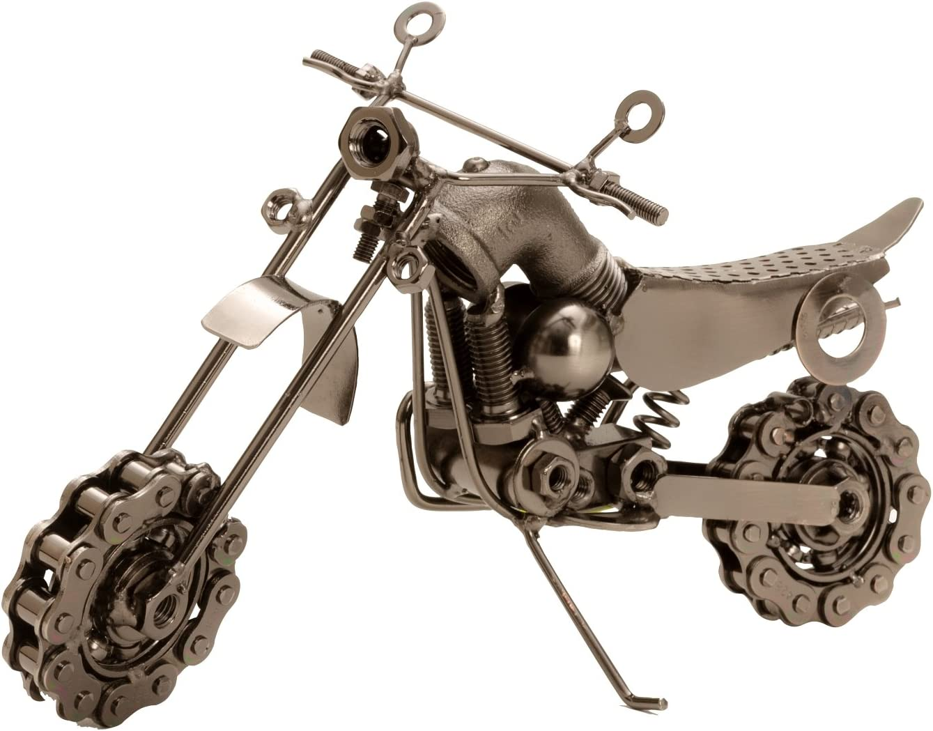 Lifestyle /& More Skulptur Dekofigur Motorrad aus Metall in Silber L/änge 25 cm H/öhe 14 cm