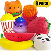 PARTYKA Squishies Pack - Squishies for Girls and Boys Jumbo Squishys Pack Squishies Slow Rising Scented Stress Reliever for Adults Squeeze Toys as Gift Kids Squishy 8pcs