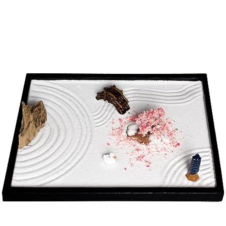 ICNBUYS, giardino zen da tavolo fai-da-te con accessori e utensili vari, Pietra, L