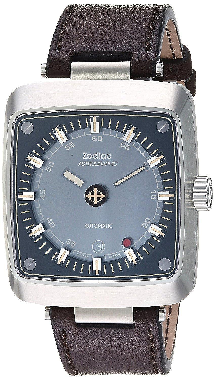 [ゾディアック]Zodiac 腕時計 'Astrographic' Swiss Automatic Stainless Steel and Leather Casual ZO6604 メンズ [並行輸入品] B077L4WP8M