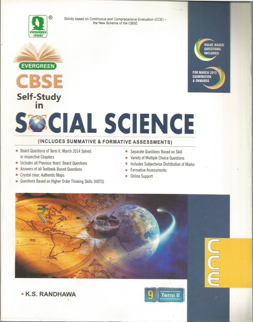 evergreen cbse self study in social science term ii for class 9 rh amazon in cbse class 9 social science golden guide pdf download cbse class 9 social science guide