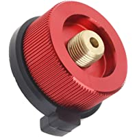 Creative-Idea Red Auto Off Stove Burner Gas Stove Converter Adapter for Camping Picnic Outdoor Cooking