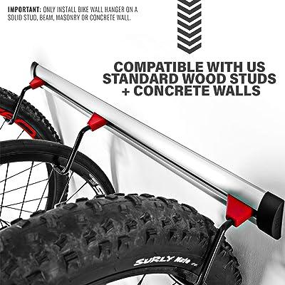 Adjustable Indoor Bicycle Storage Mount for Garage Bike Wall Rack for 6 Bikes