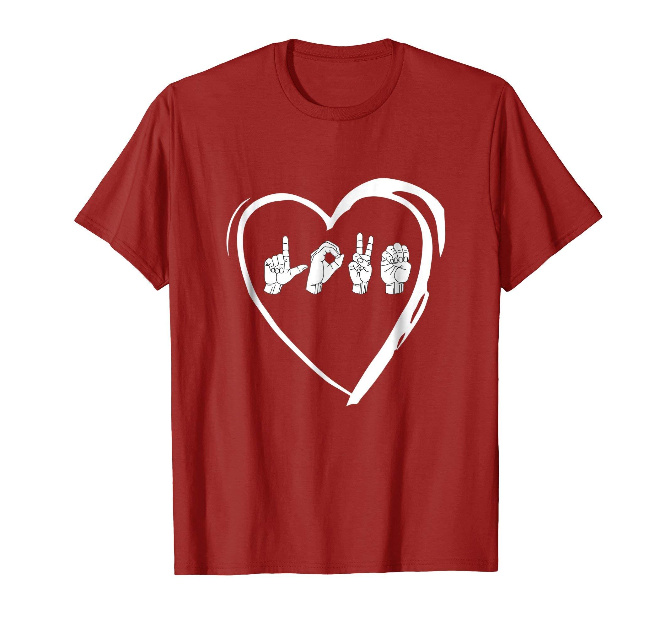 Love Sign Language Heart ASL Valentine's Day Gift T-Shirt