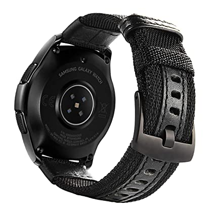 Galaxy Watch 42mm Band Nylon, Gear Sport Band, Gear S2 Classic Bands 20mm Replacement Strap for Samsung Galaxy Watch 42mm SM-R810/ Gear Sport SM-R600/ ...
