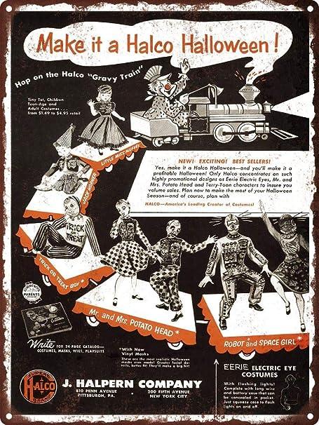 Yohoba 1954 Halco Halloween Disfraces Mr. Potato Head Train Metal ...