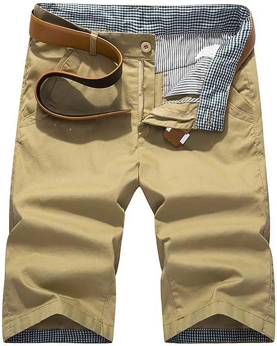 Elonglin Bermuda Chino - Pantalón corto de algodón para hombre, estilo vintage, pantalones cortos de verano para exteriores, bermudas: Amazon.es: Ropa y accesorios