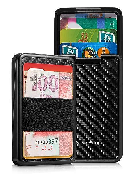 4e5d24cbd629 NewBring Automatic Pop Up RFID Blocking Wallets for Men Credit Card Holder  Slim Wallet, Front Pocket Card Case Holder