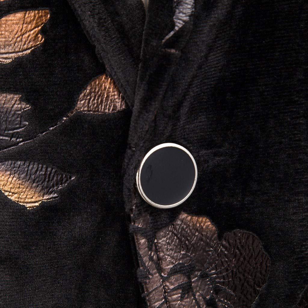 LILICAT Mens Velvet Blazers Suit Slim Fit Elegant Floral Hot Stamping Prints Suit Jackets Vintage Carnival Dinner Chic Coats