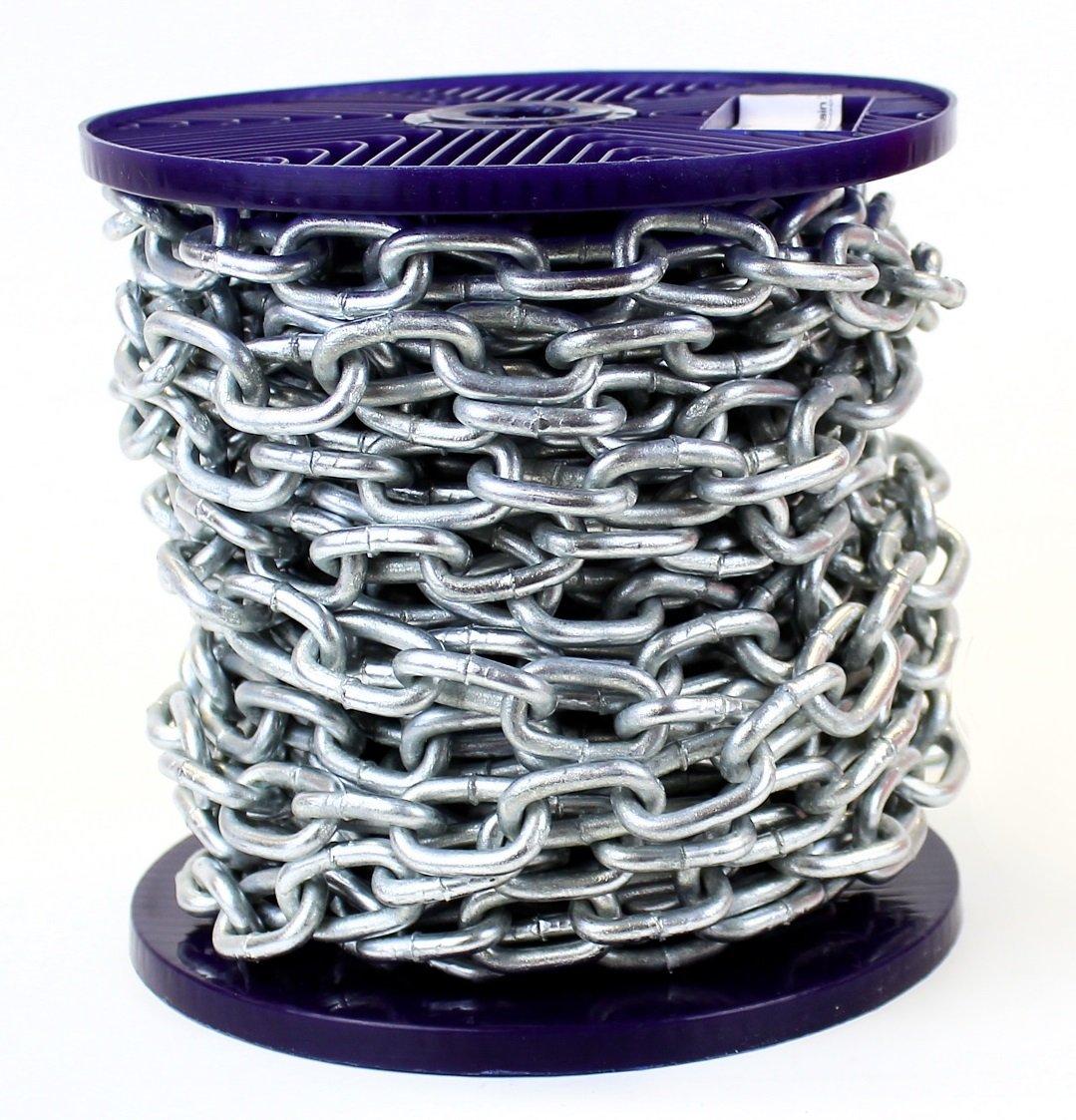 Strong Hot Dipped Galvanized Heavy Duty Steel Chain 5MM 7 Metre Custom Cut Length