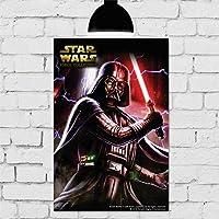 Placa Decorativa Mdf star wars darth 20cmx30cm
