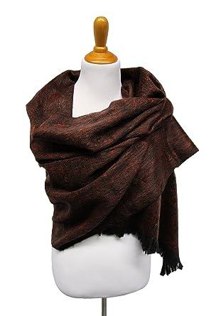 015aaa939a1694 DesiDo® XXL Handmade Alpaka Schal Pashmina Tuch Halstuch Damen 100% Wolle  Alpakaschal 180cm x