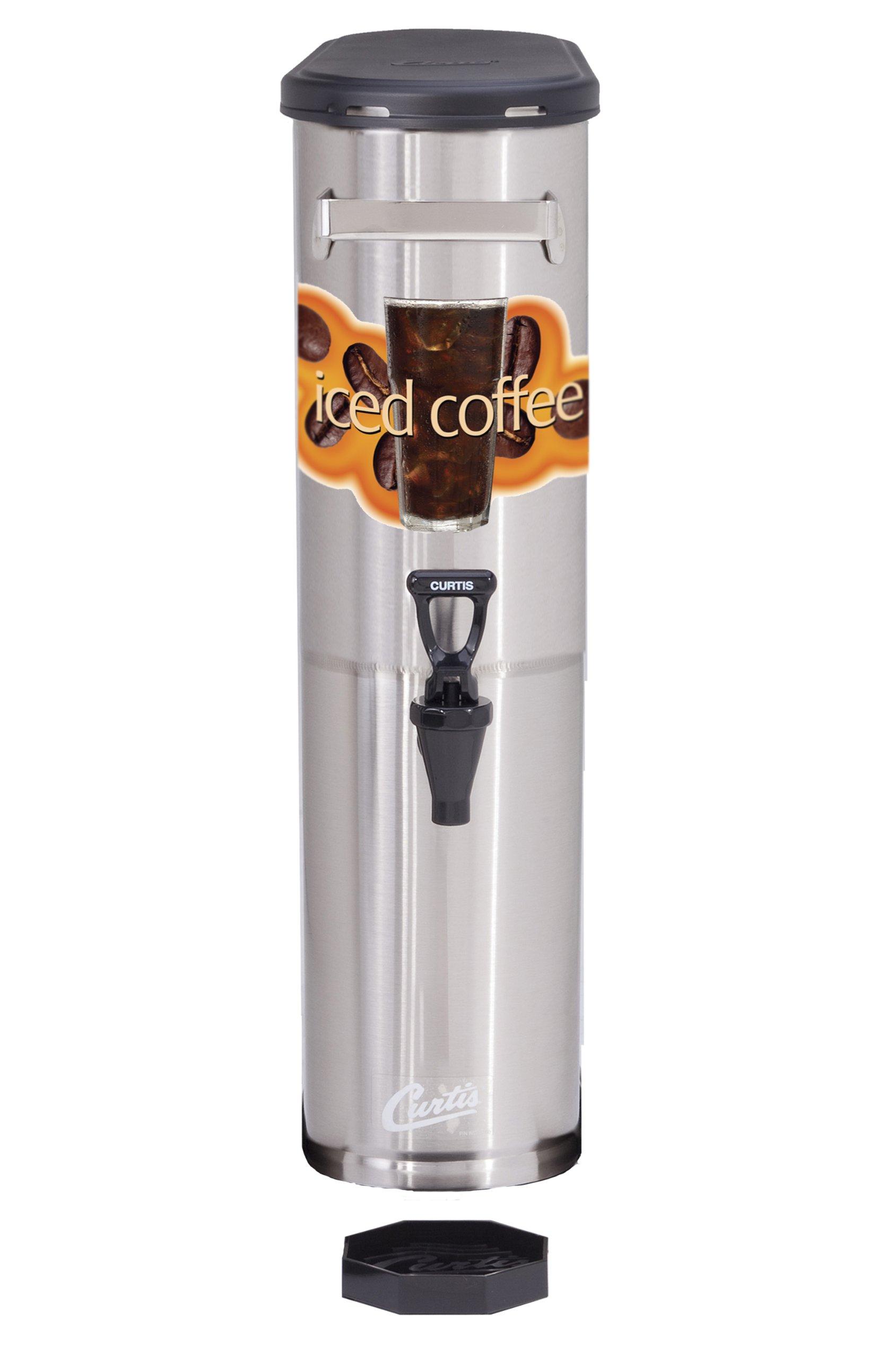 Wilbur Curtis Iced Coffee Dispenser 3.5 Gallon Narrow Iced Coffee Dispenser - Designed to Preserve Flavor - TCNC (Each)