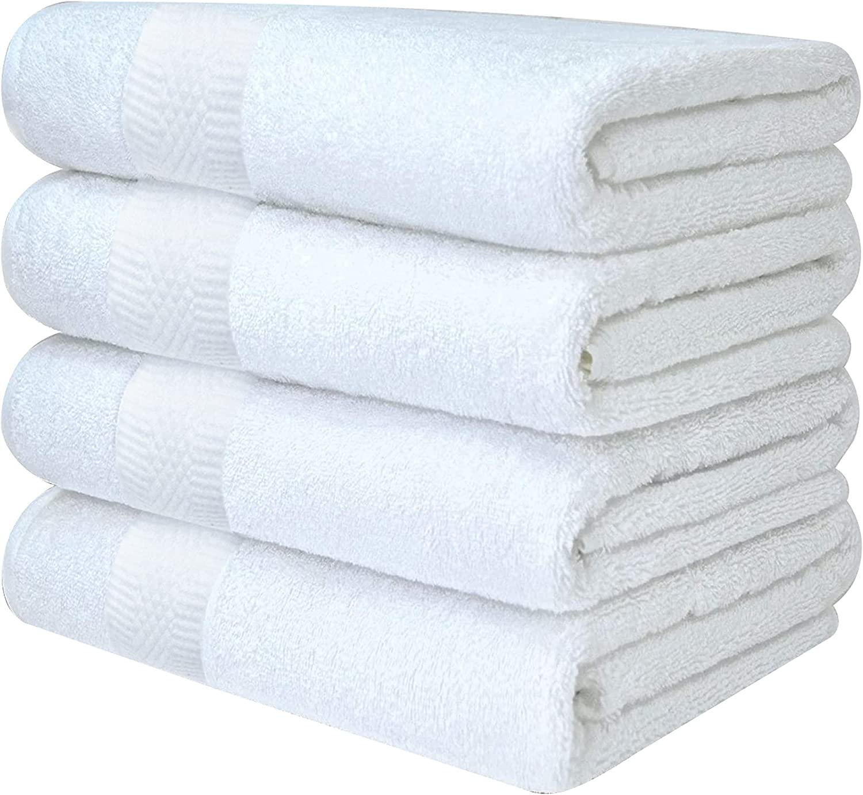 White Plain bath towel #8607