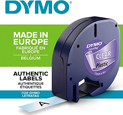 DYMO S0721550 - Cinta adhesiva transparente (4m x 12 mm): Amazon ...