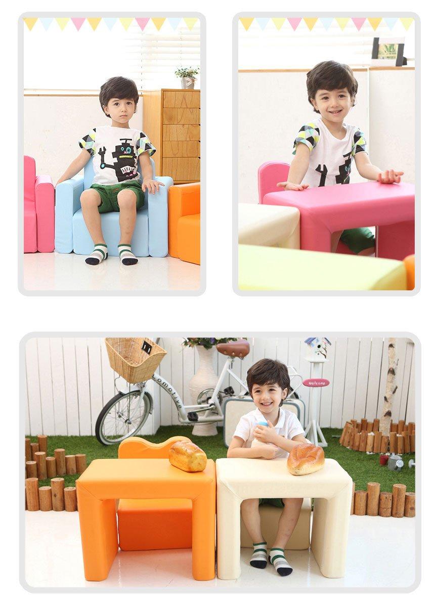 Iizz POPO Kids Smart Desk Sofa One Set Separable Baby Chair Table Combine Block (Orange)